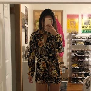 Urban Outfitters Floral Choker Romper